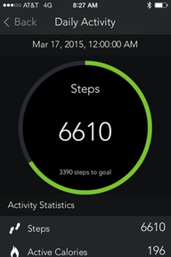 The Mio Go app displays your progress toward your daily step goal.