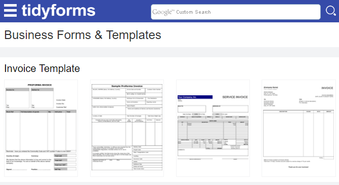 tidyforms-templates