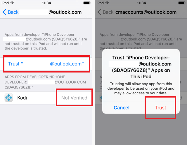 ios trust developer